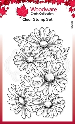 Woodware Craft - Clear Stamp - Five Daisies