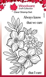 Woodware Craft - Clear Stamp - Blooming Lovely