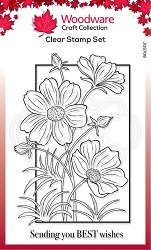 Woodware Craft - Clear Stamp - Cosmos Collection