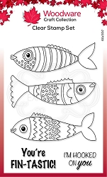 Woodware Craft - Clear Stamp - Swimming Fish