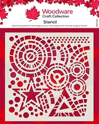 Woodware Craft - Stars & Circles stencil (5.75