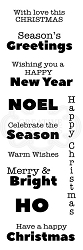 Woodware Craft - Clear Stamp - Modern Seasonal