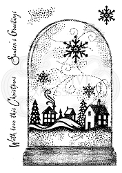 Woodware Craft - Clear Stamp - Snowglobe