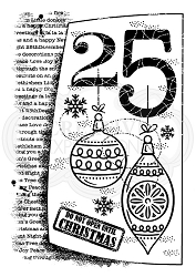 Woodware Craft - Clear Stamp - 25th of December