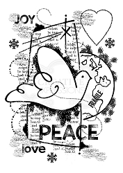 Woodware Craft - Clear Stamp - World Peace