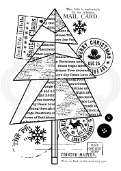 Woodware Craft - Clear Stamp - Paper Tree