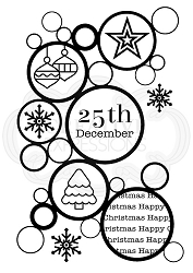 Woodware Craft - Clear Stamp - Christmas Bubbles