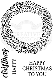 Woodware Craft - Clear Stamp - Garland