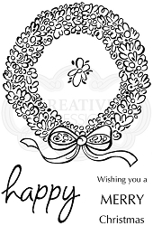 Woodware Craft - Clear Stamp - Loopy Wreath