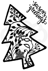 Woodware Craft - Clear Stamp - Leafy Tree
