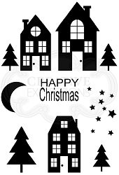 Woodware Craft - Clear Stamp - Christmas Street