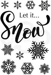 Woodware Craft - Clear Stamp - Let it Snow