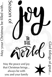 Woodware Craft - Clear Stamp - Oh Joy