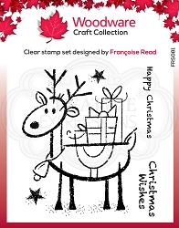 Woodware Craft - Clear Stamp - Rudolph Pressies