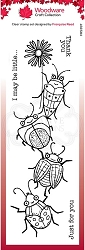 Woodware Craft - Clear Stamp - Beetle Flower