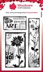 Woodware Craft - Clear Stamp - Vintage Pockets