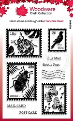 Woodware Craft - Clear Stamp - Beetle Post