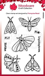 Woodware Craft - Clear Stamp - Moths