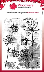 Woodware Craft - Clear Stamp - Three Bees