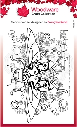 Woodware Craft - Clear Stamp - Dancing Beetle