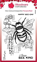 Woodware Craft - Clear Stamp - Bee Kind