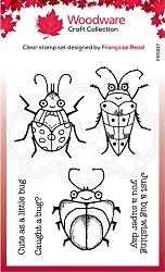Woodware Craft - Clear Stamp - Cute Bugs