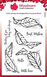 Woodware Craft - Clear Stamp - Fluttering Leaves
