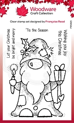Woodware Craft - Clear Stamp - Seasonal Gnome