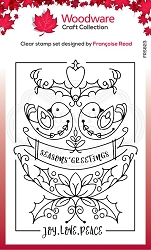 Woodware Craft - Clear Stamp - Two Turtle Doves