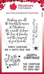 Woodware Craft - Clear Stamp - Special Christmas Words