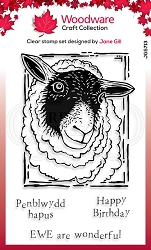 Woodware Craft - Clear Stamp - Lino Cut Sheep