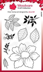 Woodware Craft - Clear Stamp - Dog Rose