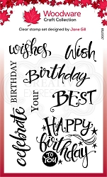 Woodware Craft - Clear Stamp - A Birthday Moment