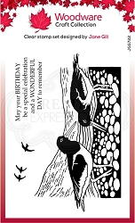 Woodware Craft - Clear Stamp - Lino Cut Oyster Catchers