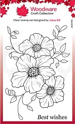 Woodware Craft - Clear Stamp - Petal Trio