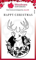 Woodware Craft - Clear Stamp - Circle Deer