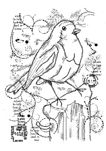 Woodware Craft - Clear Stamp - Frosty Robin