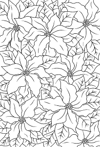 Woodware Craft - Clear Stamp - Poinsettia Lace