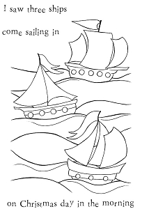 Woodware Craft - Clear Stamp - Three Ships