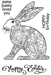 Woodware Craft - Clear Stamp - Decorative Hare