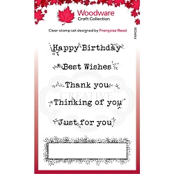 Woodware Craft - Clear Stamp - Boxed Greetings