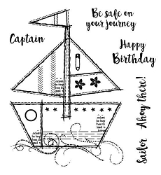 Woodware Craft - Clear Stamp - Sailboat