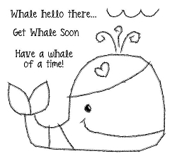 Woodware Craft - Clear Stamp - Whale Hello