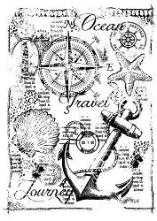 Woodware Craft - Clear Stamp - Nautical Collage
