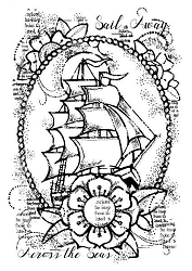 Woodware Craft - Clear Stamp - Ship Ahoy
