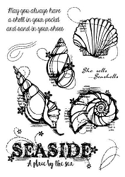 Woodware Craft - Clear Stamp - Seashells