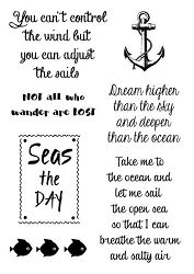 Woodware Craft - Clear Stamp - Nautical Sayings