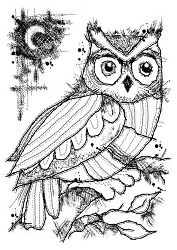 Woodware Craft - Clear Stamp - Midnight Owl