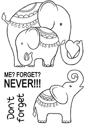 Woodware Craft - Clear Stamp - Elephant Love