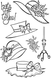 Woodware Craft - Clear Stamp - Four Hats